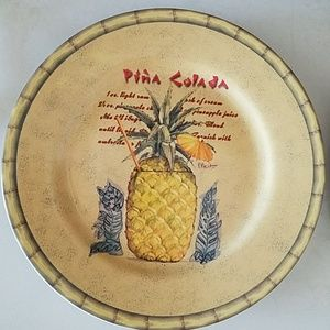 Tropical Tiki stoneware plate set